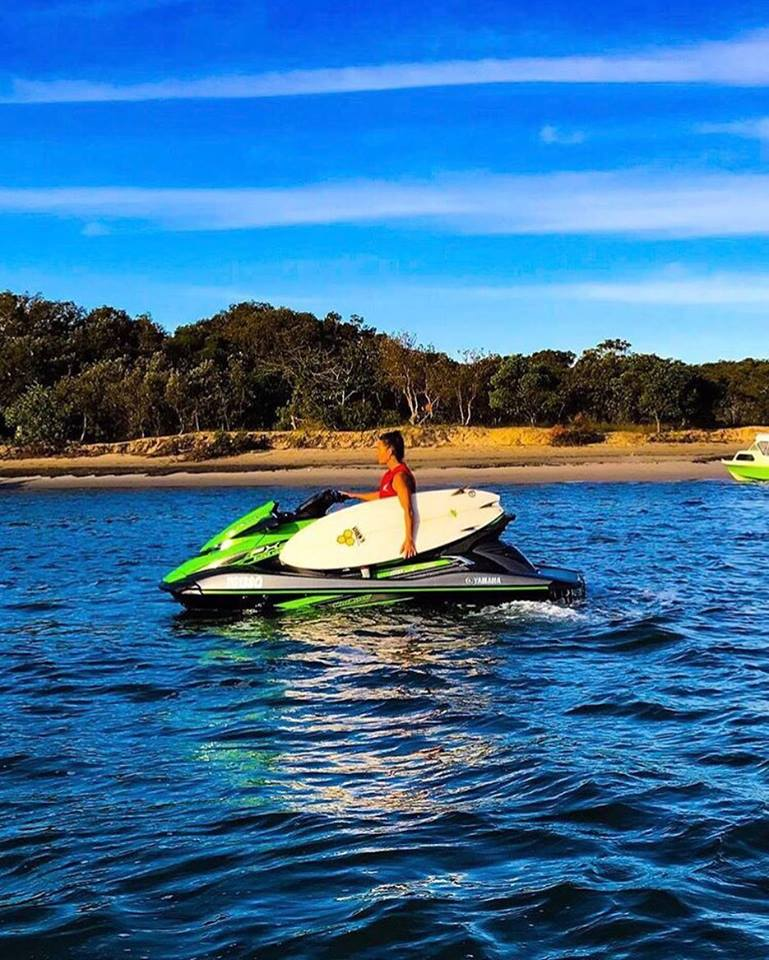 South Stradbroke beach break by jet ski